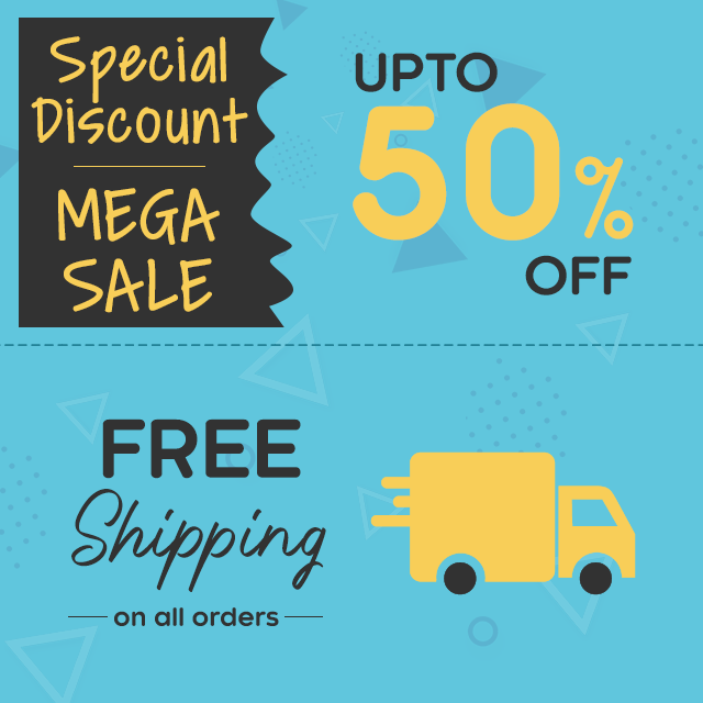 Discount: Upto 50% Off - Free Shipping